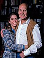 Robert Duvall, actor, with wife Gail Youngs, NYC apartment.jpg