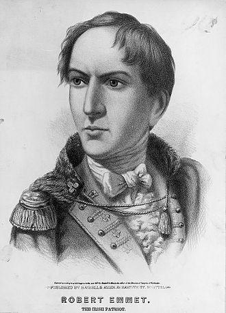 """Robert Emmet - """"Robert Emmet – The Irish Patriot""""; a posthumous imaginary portrait of 1872."""