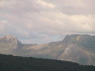 Nebrodi - The Rocche del Crasto seen from Ficarra.