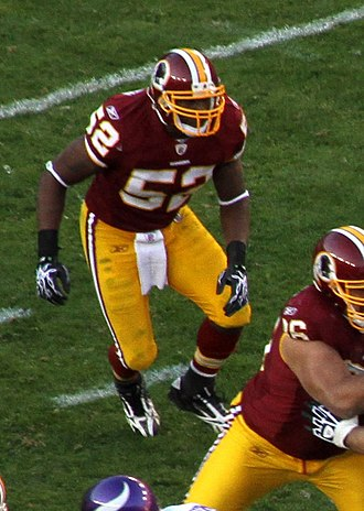 Rocky McIntosh - McIntosh during the 2010 NFL season with the Redskins.