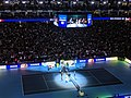 Roger Federer v Novak Djokovic at 2019 ATP Finals (49070644036).jpg