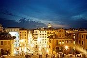 Roma-piazza spagna di notte