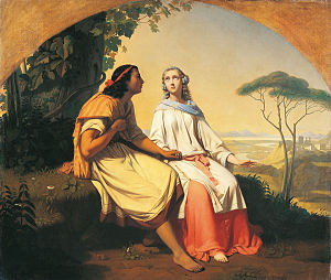 Romain Cazes - L'Ame exilée, 1838, oil on canvas, in the Musée des Augustins