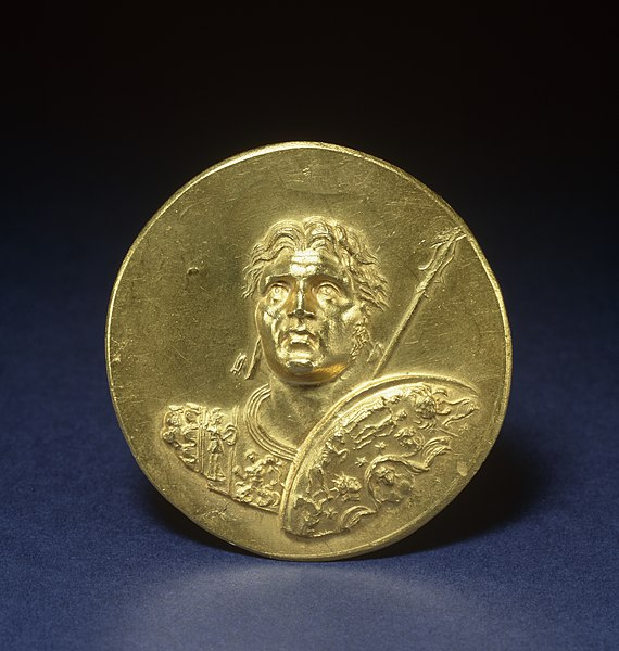 File:Roman - Medallion with Alexander the Great - Walters 591 - Obverse.jpg