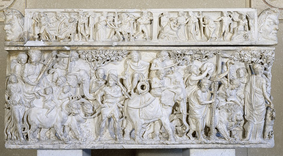 Roman - Sarcophagus with the Triumph of Dionysus - Walters 2331
