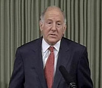 Ronald M. George gives a speech on March 10, 2009