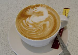 "Artwork of a barista: Cappuccino with decor ""d..."
