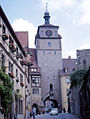 Rothenburg - Georgengasse and Weisser Turm (6275202782).jpg