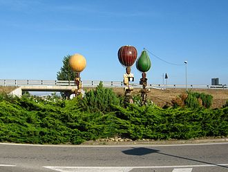 Torrelameu - Fruit Roundabout at village entrance