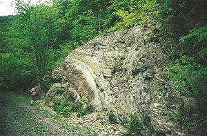 Roundtop Hill (Maryland) - Anticlinal fold