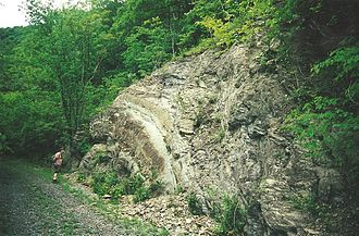 Roundtop Hill (Maryland) - Anticlinal fold