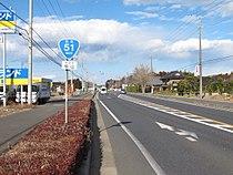 Route 51 in Momiyama,Hokota city,Japan.JPG