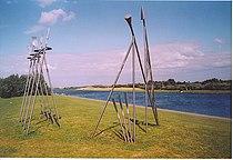 Rowing Sculpture, Holme Pierrepoint. - geograph.org.uk - 129397.jpg