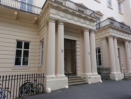 Entrance to the Royal Society at 6–9 Carlton House Terrace, London