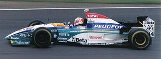 Rubens Barrichello - Barrichello driving for Jordan at the 1995 British Grand Prix