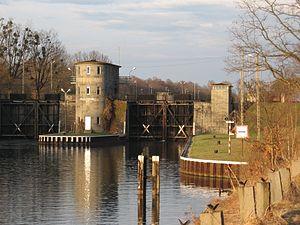 Gliwice Canal - Lock in Rudziniec village.