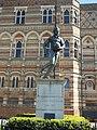 Rugby School - Dunchurch Road, Rugby - statue of William Webb Ellis (33846142961).jpg