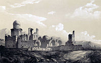 Ruins of a palace in Sultanieh by Eugène Flandin.jpg