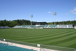 Das Hauptstadion im WakeMed Soccer Park in Cary, North Carolina