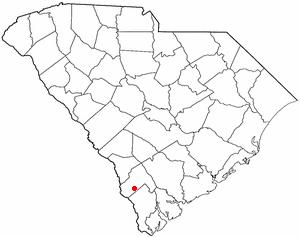 Furman, South Carolina - Image: SC Map doton Furman