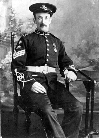 1st Fife Artillery Volunteers - Sgt Andrew Foster of Dysart Fife in full dress uniform, c1905
