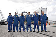 STS-119 crew after landing