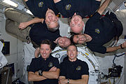 STS-134 in-flight crew portrait
