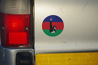 SWAPO - Typical SWAPO sticker on Namibian vehicle