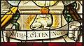 """Saint-Chapelle de Vincennes - Baie 1 - Salamandre de François Ier et devise """"Nustrisco et extinguo"""" (bgw17 0806).jpg"""