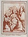 Saint Catherine of Alexandria. Sanguine etching by F. Rosasp Wellcome V0033434.jpg
