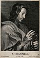 Saint John the Evangelist. Line engraving by C. van Caukerck Wellcome V0032378.jpg