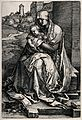 Saint Mary (the Blessed Virgin) with the Christ Child. Engra Wellcome V0033842.jpg
