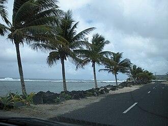 Transport in Samoa - Coastal island highway.