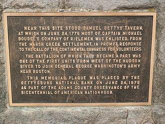 Samuel Gettys - Historical Marker