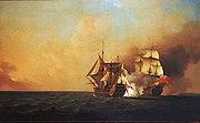 Samuel Scott - Action Between Nottingham And Mars 1746