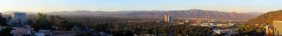 Panorama of San Fernando Valley from Universal Studios