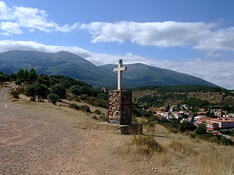 Moncayo Massif - Cross at San Martín de la Virgen de Moncayo.