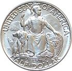 Obverse of the California Pacific International Exposition half dollar