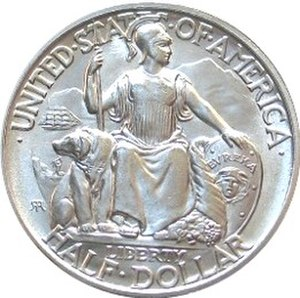 California Pacific International Exposition half dollar - Obverse