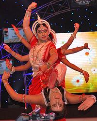 Sanchita Bhattacharya performing at Bharat Nirman Award.jpg