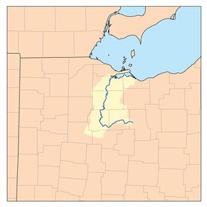 Sandusky River - Map of the Sandusky River watershed.