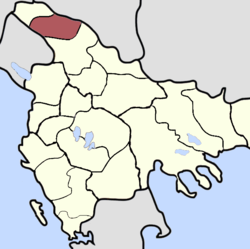 Location of Novi Pazar, Sanjak