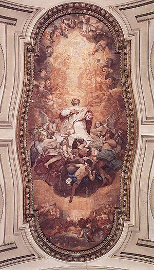 Sant'Eusebio - Glory of Sant'Eusebio, (1757) Anton Raphael Mengs