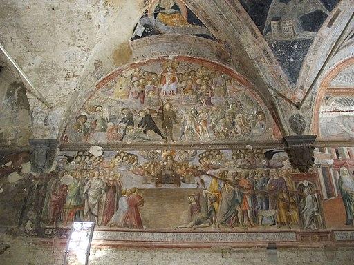 Il Vecchietta, Giudizio Universale, Santa maria della scala, sagrestia vecchia