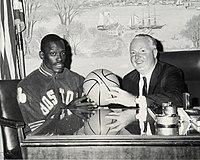 Satch Sander with Boston mayor John F. Collins.jpg
