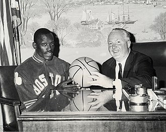 Satch Sanders - Sanders with Boston mayor John F. Collins in the 1960s