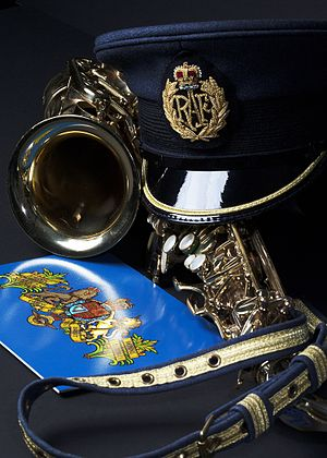 Central Band of the Royal Air Force - Equipment (saxophone) in December 2015