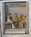Scena di commedia, musici consultazione della fattucchiera, da villa di cicerone a pompei, 9987, 01.JPG