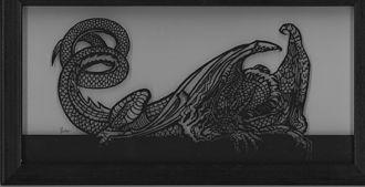 Scherenschnitte - Image: Scherenschnitte dragon