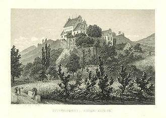 Kasteln Castle - Kasteln castle in 1860